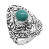 Bali Legacy Collection Sonoran Blue Turquoise Sterling Silver Ring (Size 7.0) TGW 2.310 cts.