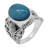 Bali Legacy Collection Larimar Graceful Swirl Sterling Silver Ring (Size 8.0) TGW 9.250 cts.