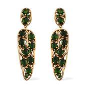 Russian Diopside (Ovl) Earrings in 14K YG Overlay Sterling Silver TGW 7.920 cts.