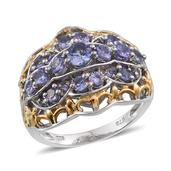 Tanzanite 14K YG and Platinum Over Sterling Silver Ring (Size 7) TGW 2.160 cts.