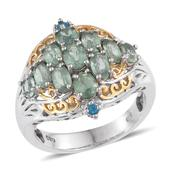 Green Kyanite, Malgache Neon Apatite 14K YG and Platinum Over Sterling Silver Ring (Size 6.0) TGW 3.770 cts.