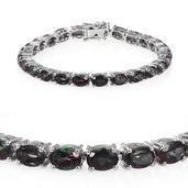 Northern Lights Mystic Topaz Platinum Over Sterling Silver Bracelet (7.50 In) TGW 23.000 cts.