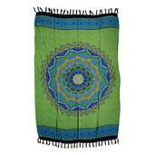 Green and Blue 100% Rayon Sarong (71x47 in)