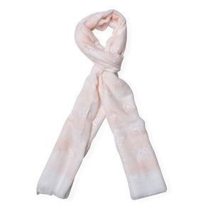 J Francis - Peach 70% Viscose and 30% Polyester Scarf (71x25 in)