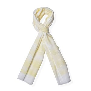 Yellow 70% Viscose and 30% Polyester Scarf (71x25 in)