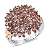 Jenipapo Andalusite 14K YG and Platinum Over Sterling Silver Ring (Size 5.0) TGW 4.500 cts.