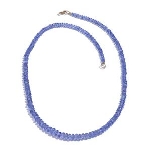 14K YG Tanzanite Bead Necklace (18 in) TGW 69.84 Cts.