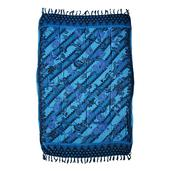 Blue Batik Motive 100% Rayon Sarong (71x47 in)