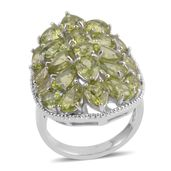 Hebei Peridot Sterling Silver Ring (Size 9.5) TGW 13.96 cts.