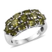 Vesuvianite Platinum Over Sterling Silver Ring (Size 6.0) TGW 4.40 cts.