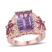 Jewel Studio by Shweta Bahia Amethyst, Orissa Rhodolite Garnet 14K RG Over Sterling Silver Ring (Size 9.0) TGW 7.550 cts.