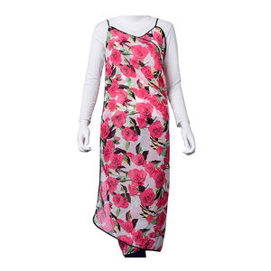 J Francis - White and Pink Rose 100% Polyester Beach Pareo (56x39 in)