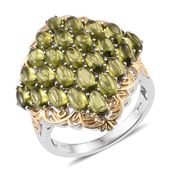 Vesuvianite 14K YG and Platinum Over Sterling Silver Ring (Size 6.0) TGW 8.65 cts.