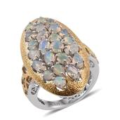 GP Ethiopian Welo Opal 14K YG and Platinum Over Sterling Silver Ring (Size 10.0) TGW 2.79 cts.