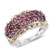 Morro Redondo Pink Tourmaline 14K YG and Platinum Over Sterling Silver Openwork Ring (Size 8.0) TGW 2.36 cts.
