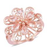 Marropino Morganite 14K RG Over Sterling Silver Ring (Size 7.0) TGW 2.20 cts.