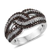 Red Diamond (IR), Diamond Platinum Over Sterling Silver Ring (Size 9.0) TDiaWt 1.00 cts, TGW 1.000 cts.