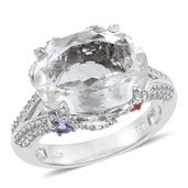 XIA Kunzite, Multi Gemstone Platinum Over Sterling Silver Split Ring (Size 9.0) TGW 13.120 cts.