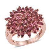 Pink Tourmaline 14K RG Over Sterling Silver Ring (Size 6.0) TGW 4.490 cts.