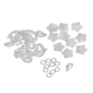 Gem Workshop Star Charms Silvertone Bracelet Kit