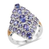 Tanzanite 14K YG and Platinum Over Sterling Silver Ring (Size 5.0) TGW 3.26 cts.