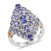 Tanzanite 14K YG and Platinum Over Sterling Silver Ring (Size 6.0) TGW 3.260 cts.