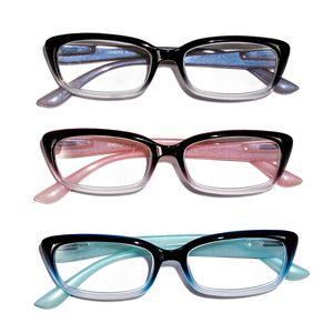 Set of 3 Multi Color Ombre Readers Glasses + 2.0