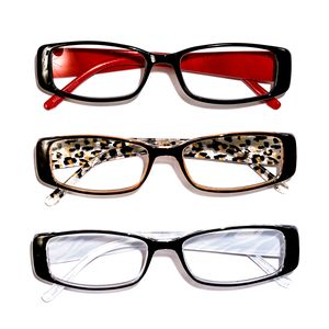 Black Red, Leopard and Zebra Print Reading Glasses 1.5 Diopter - 3 Pairs