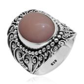Bali Legacy Collection Peruvian Pink Opal Sterling Silver Ring (Size 11.0) TGW 11.860 cts.