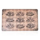 Anti-Fatigue Classic Tea Cups Printed Kitchen Mat (30x18 in)