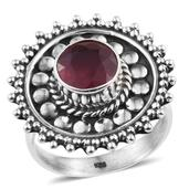 Artisan Crafted Niassa Ruby Sterling Silver Ring (Size 7.0) TGW 4.070 cts.