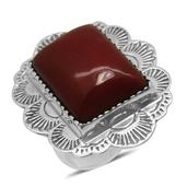 Bali Legacy Collection Sponge Coral Sterling Silver Ring (Size 6.0) TGW 12.000 cts.