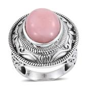 Peruvian Pink Opal Sterling Silver Ring (Size 7.0) TGW 8.83 cts.