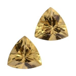 Golden Apatite Set of 2 (Trl 7 mm) TGW 2.08 Cts.