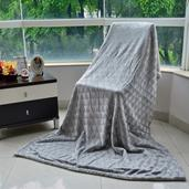 Gray Brushed Flannel Reversible Sherpa Throw (50x70 in)