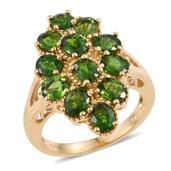 Russian Diopside 14K YG Over Sterling Silver Split Ring (Size 8.0) TGW 5.400 cts.