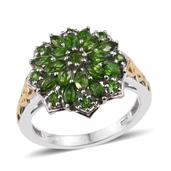 Russian Diopside 14K YG and Platinum Over Sterling Silver Ring (Size 9.0) TGW 2.260 cts.
