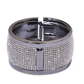 Austrian Crystal Gunmetal Bangle (7.50 in)