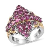 Morro Redondo Pink Tourmaline 14K YG and Platinum Over Sterling Silver Openwork Ring (Size 8.0) TGW 3.62 cts.