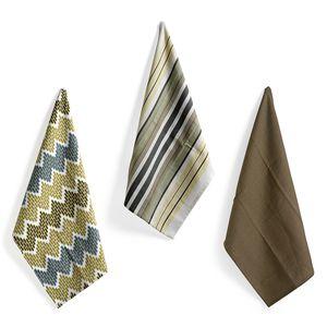 Home Textiles Set of 3 Multi Color 100% Cotton Kitchen Towel (18x26 in)