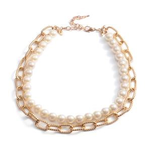 Simulated Pearl Goldtone Necklace (18 in)