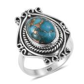 Artisan Crafted Mojave Blue Turquoise Sterling Silver Ring (Size 8.0) TGW 6.05 cts.