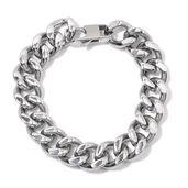 Stainless Steel Curb Bracelet (10.00 In)