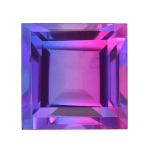 Midnight Fuscia Quartz (Sqr 13 mm) TGW 11.78 Cts.