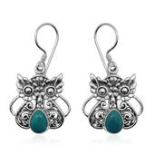 Bali Legacy Collection Sonoran Blue Turquoise Sterling Silver Earrings TGW 2.15 cts.