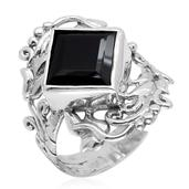 Bali Legacy Collection Thai Black Spinel Sterling Silver Ring (Size 5.0) TGW 5.790 cts.