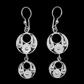 Bali Legacy Collection Sterling Silver Dangle Earrings (3.3 g)