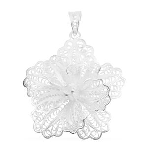 Bali Legacy Collection Sterling Silver Flower Pendant without Chain (4.6 g)