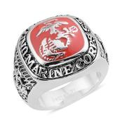 Chroma Stainless Steel U.S Marine Corps Ring (Size 14.0)