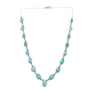 Artisan Crafted Arizona Sleeping Beauty Turquoise Sterling Silver Princess Necklace (18 in) TGW 19.040 Cts.